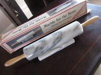 Marble Rolling Pin with Base