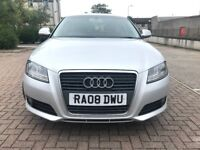 2008 AUDI A3 DIESEL, 2.0 TDI, 6-SPPED, FULL YEAR MOT, FULL AUDI SERVICE HISTORY, 1 LADY OWNER
