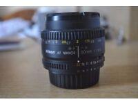 Nikon Lens - Nikkor AF 50mm 1.8