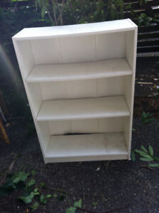 TWO Ikea white shelves pick up, pls. by Sun. July23
