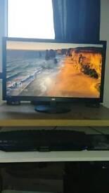 Intel i7 gaming rig and 27 inch monitor