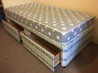 Single divan bed with drawers-£45 delivered