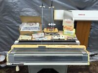 STANDARD AND CHUNKY KNITTING MACHINE, LOTS OF EXTRAS