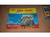 Rare Merit Sea Hunt board game 1960's