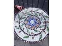Stunning cast iron mosaic tile table patio balcony garden bistro