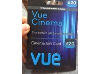 Vue £20 Cinema Voucher
