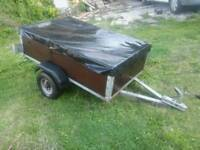 5x3 galvanised car trailer with cover