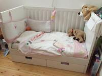 Ikea Stuva Cot Bed with drawers and mattress