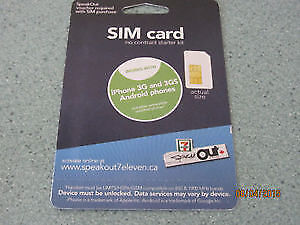 BRAND NEW Sim card for cell phone. Also works with Iphone 3G