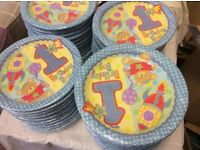 100 packs of 1st birthday boy plates