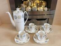 Spode Coffee Set with Pot (Gothic y8010)