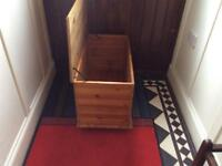Solid Pine ottoman/toy box