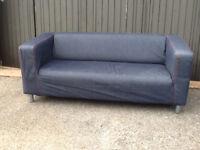 IKEA Two Seater Denim Sofa - Good Condition - Immediate Sale