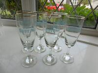 Six Snowball glasses