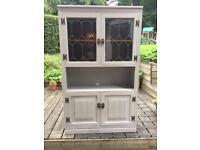 Chabby Chic Old Charm Cupboard Display Cabinet , Flint Chalky Finish, Furniture