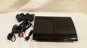 PS3 with DLC games cords and controller