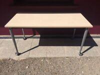 Fold away office desk on wheels