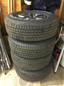 2017 Ford Lariat F150 Rims and Goodyear Wrangler Tires