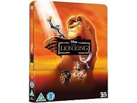Lion King 3d blu-ray steelbook new & sealed