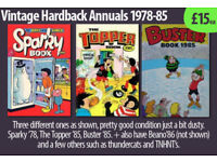 Selection of retro 'Hardback Annuals' and vintage Comics, inc TV Shows