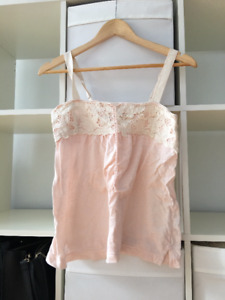 American Eagle light pink lace tank top size Small