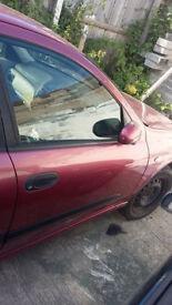 NISSAN ALMERA 5 DOOR 2000-2006 DOOR BARE (FRONT driver SIDE
