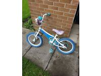 Girls frozen bike barely used