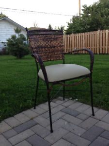 wought iron chairs , heavy duty ,