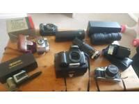 Vintage cameras and lense bundle