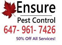 BED BUGS? ROACHES? WASPS?- #1 PEST CONTROL+ 50% OFF ALL SERVICE