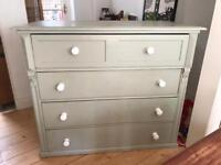 Huge French pine antique chest of drawers