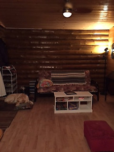 All Season Log Cabin on Saskatchewan River for Rent