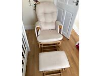 Glider rocking nursing feeding baby chair