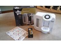 Hardly used tommee tippee Perfect Prep machine with brand new filter