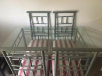 Dining table and four chairs -FREE
