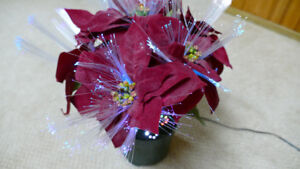 Lighted Poinsettia Decoration.  Asking $10 OBO.