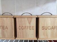 Tea, sugar, coffee box