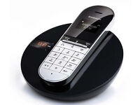 Sagemcom D77V Single DECT Black Cordless Telephone with Answering Machine.