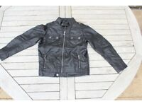 Boys faux leather jacket / biker jacket / coat, age 5, new (never worn)