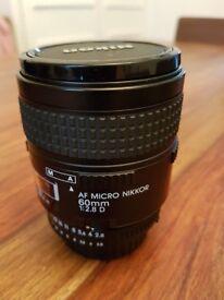 Nikon AF Micro Nikkor 60mm f/2.8D Lens.