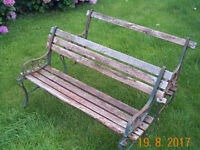 Two metal and wood garden benches for repairs, £40 for the 2. Collect from Pontardawe SA8..