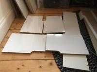 White MDF bed parts, new