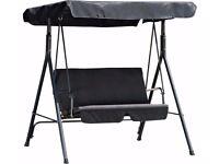 HOME 2 Seater Garden Swing Chair - Black 632.
