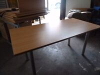 Free Standing Straight Office Desk Delivery available