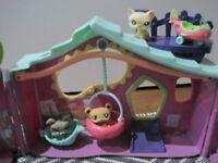 Littlest Pet Shop Playhouse and Hamster Wheel Bundle inc Aeroplane & Colourful Animal Characters