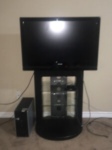 Tv with mount/3 shelf stand