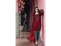 asian pakistani maria b eid collection 2017 stitched suit