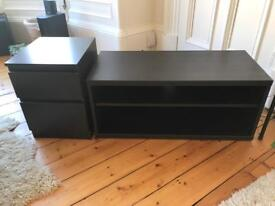 IKEA TV cabinet with matching drawers