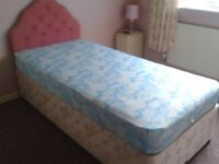 single divan bed and bedding