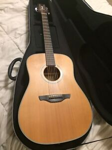 Takamine acoustic guitar with hardshell case